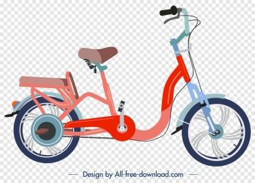 bicycle icon red modern design curved decor