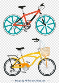 bicycle templates colorful modern design