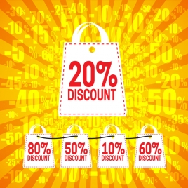 big discount shopping bag banner
