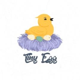 bird nest drawing tiny eggs straw icons
