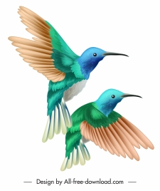 birds couple painting colorful classical decor