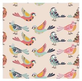 birds illustration on repeat pattern