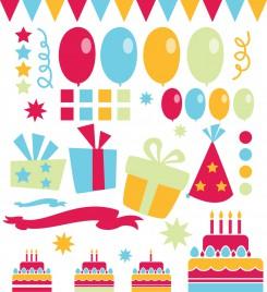Birthday design element