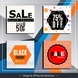 black friday backgrounds colorful modern illusion decor