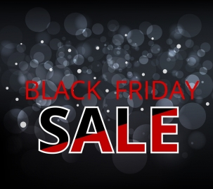 black friday banner grey bokeh decoration