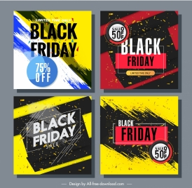 black friday posters templates modern colorful grunge dynamic