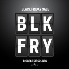 black friday sale banner design with flip clock
