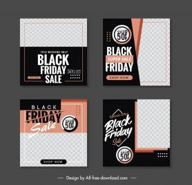 black friday sale posters elegant checkered contrast decor