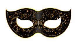 Black mask decoration