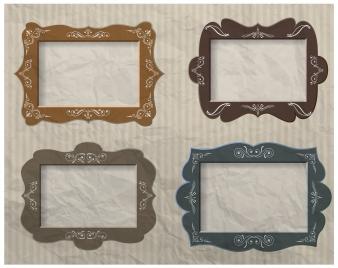 blank colored vintage frames vector illustration