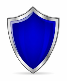 Blue glossy shield