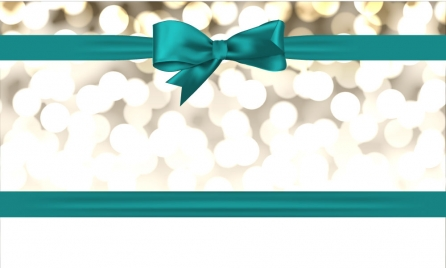 blue ribbon decoration for christmas background