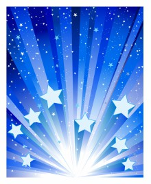 Blue Star Exploding Background