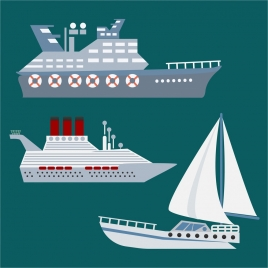 boats design sets isolation in various types