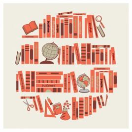 Book shelf silhouette