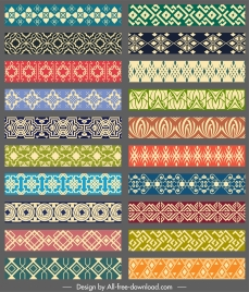 border decorative elements collection elegant seamless symmetric repeating