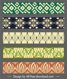 border decorative elements elegant flat repeating symmetric design
