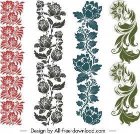 border decorative templates floras sketch elegant classic