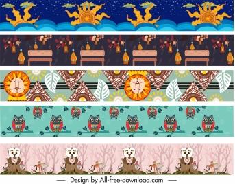 border design elements classic traditional tribal repeating decor