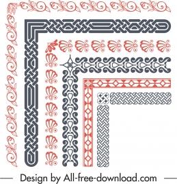 border elements templates elegant retro repeating symmetric design