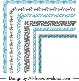 border elements templates retro elegant symmetric shapes
