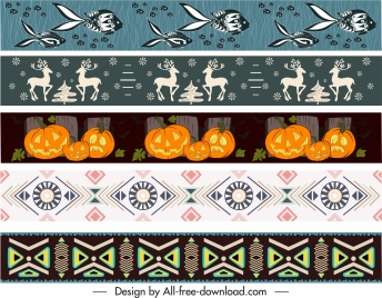 border templates tribe animal halloween themes repeating design