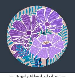 botanical background template handdrawn vintage design circle isolation
