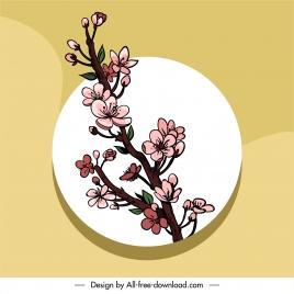 botany branch painting elegant handdrawn classic sketch
