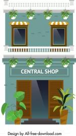 boutique background colorful design facade decor
