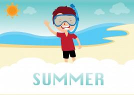 boy on summer beach