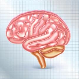 brain icon shiny pink design