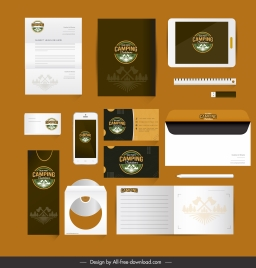 brand identity sets adventure camping logo decor