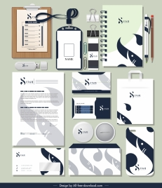 brand identity sets blurred abstract shape decor