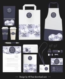 brand identity sets elegant retro botanical decor