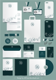 brand identity templates elegant handdrawn flora decor