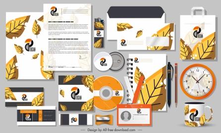 branding identity sets autumn leaf decor