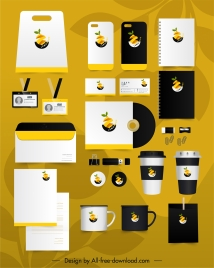 branding identity sets lemon cut logo decor