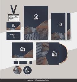 branding identity sets modern abstract geometric illusion decor