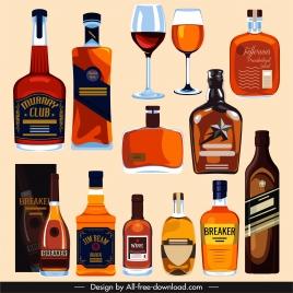 brandy wine design elements flat classic design