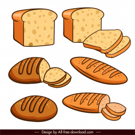 bread design elements classical handdrawn sketch