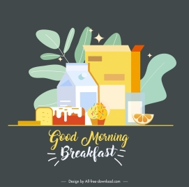 breakfast background colorful classical design
