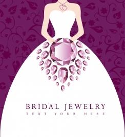 bridal jewelry advertisement violet gemstone ornament bride icon