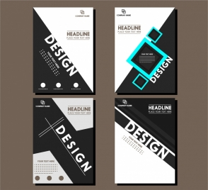 brochure cover design templates modern style