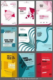 brochure covers templates modern abstract 3d geometric theme