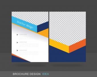 brochure design headline colorful template