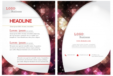 brochure design on diamond and white background