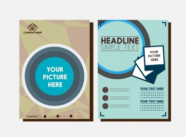 brochure design template circle and picture style