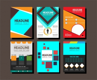 brochure design templates collection layout