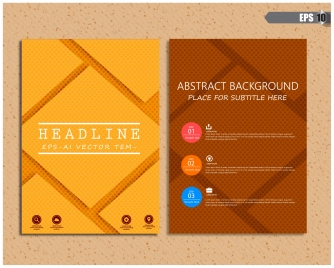 brochure design with dark abstract background