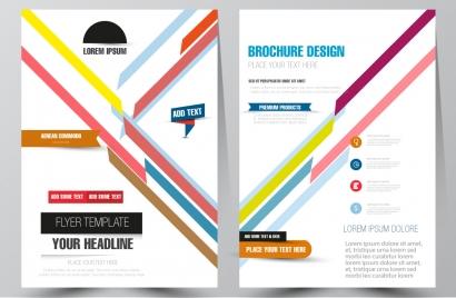 brochure design with diagonal illustration